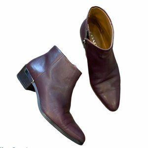 COACH Montana Leather Boots 6.5 Wine Bordeaux 1545
